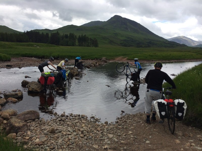 Cycling Glen kinglas river crossing.resized